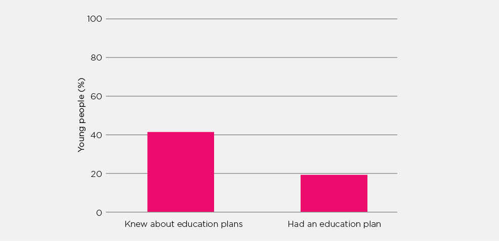 Figure 5.1: Young people's knowledge and possession of Individual Education Plans