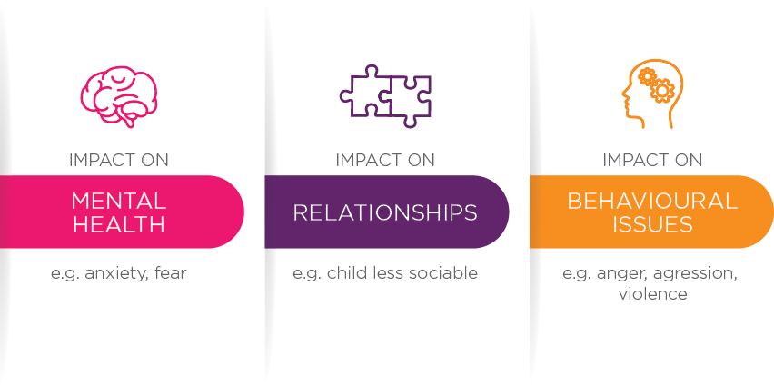 Figure 3: Commonly reported effects of family violence on children