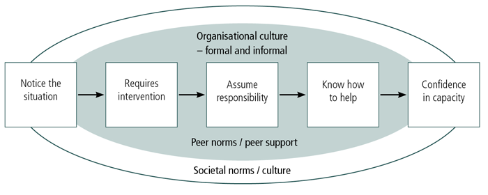 Figure 1: Ecological model for bystander action to prevent sexual violence