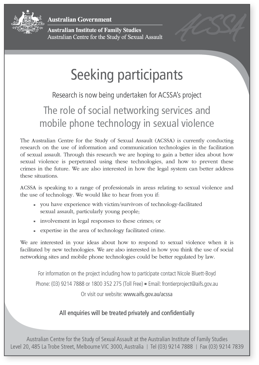 Seeking participants flyer (key informants)